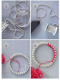 DIY colorful pearl bracelets