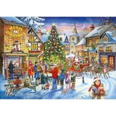 Pre-loved: House of Puzzles Christmas Shopping 1000 piece festive jigsaw puzzle