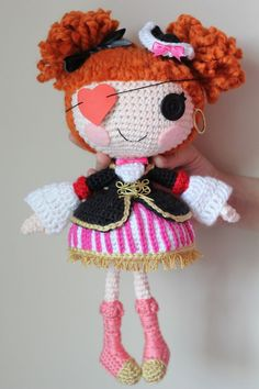 Pirate Girl Amigurumi - free pattern (in Russian) from THIS Russian site.