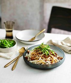 Australian Gourmet Traveller fast recipe for minced pork noodles.