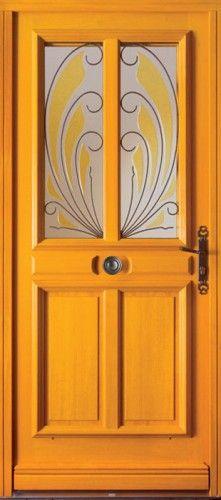 porte bois porte entree bel 39 m classique poignee poign e plaque rustique couleur gris cuivr. Black Bedroom Furniture Sets. Home Design Ideas
