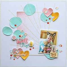 #papercraft #scrapbook #layout  Love This Girl by adriennealvis at @Studio_Calico