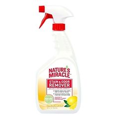 Pet Stain And Odor Remover Lemon 32oz, Natures Miracle - Natures Miracle Pet Stain And Odor Remover Uses An Incredibly Effective Bio-enzymatic Formula To Remove Urine, Feces, Drool Vomit Or Any Other Pet Mess You Can Think Of. This Lemon Scented Remover Smells Fresh And Is For Use On Carpets, Floors, Furniture, Clothing And More.