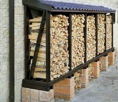 Wood Storage Sheds, Firewood Storage, Wood Shed, Outdoor Firewood Rack, Outdoor Storage, Cinder Block Fire Pit, Rock Garden Design, Rustic Wood Furniture, Wood Store