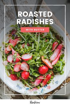This recipe for roasted radishes with butter is an update on the classic vegetable French dish, and it requires less than five ingredients to make. #food #cooking #recipes