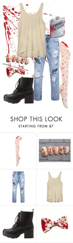 """""""Zombie party outfit"""" by once-upon-a-anothers ❤ liked on Polyvore featuring Rebecca Minkoff and Charlotte Russe"""