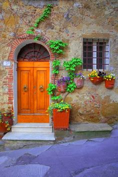Italy - Villa Door in Tuscany
