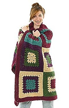 Free Crochet Pattern: Crochet Great Granny Throw - I like the idea of a bigger granny square. I typically avoid granny squares because of all the sewing, but this might not be so bad!