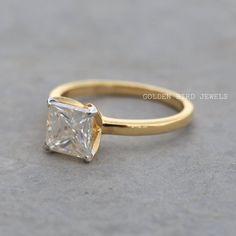 #PrincessCutRing #DiamondRing #MoissaniteSolitaire #SolitaireDiamond #YellowGoldRing #UniqueRing #ColorlessRing #ColorlessSolitaire #EngagementRing #PrincessCut #RingsForGirls #AnniversaryRing #GoldRing