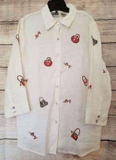 S-Edward-Irish-Linen-White-Shoes-amp-Purses-Appliques-100-Linen-Button-Shirt