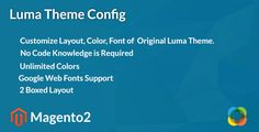 cool Magento2 Luma Theme Config (Magento Extensions)