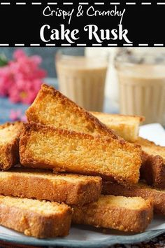 Step-by-step recipe with pictures to make Cake Rusk. Pictorial recipe to make Indian Cake Rusk. How to make Cake Rusks. Eggless Recipes, Eggless Baking, Eggless Biscotti Recipe, Indian Desserts, Indian Food Recipes, Indian Sweets, Jain Recipes, Indian Snacks, Indian Dishes