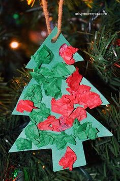 Craft For Kids Miniature Christmas Tree Ornament