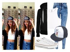 """Jade Thirlwall Outfit Recreation"" by little-mix-fashionlover ❤ liked on Polyvore featuring H&M, Converse and Wet Seal"