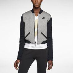 Nike Tech Fleece 3mm Bomber Womens Jacket. Nike Store