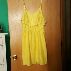 Yellow spring dress Yellow short dress with straps Dresses Mini