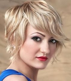 Short hairstyles for wavy hair are looking cute with dainty not to mention easy to maintain. Cute short haircuts for wavy hair can be accessed in form of. Short Choppy Haircuts, Short Hair With Bangs, Short Hair With Layers, Cute Hairstyles For Short Hair, Short Hair Cuts For Women, Bob Hairstyles, Short Wavy, Choppy Cut, Shorter Hair