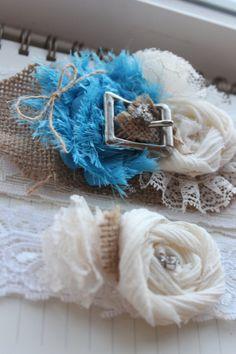 Caroline Garter Burlap And Lace Set Rustic Wedding Ivory Vintage Western Plus Size Garters