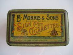 B. Morris Golden Virginia Silk Cut cigarette tin (100/empty) c.1895