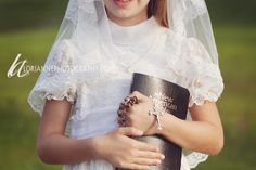 Girl first communion portrait- kind of early but it will be here before I know it