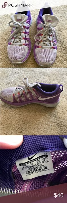 Nike Flyknit Lunar 1 Blue/ Pink Size 9.5 Pre Owned Great Condition
