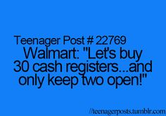 Every grocery and department store...no, every f***ing store...