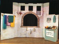 Marketplace set for Aladdin Kids by Cristy Aladdin Show, Aladdin Play, Aladdin Theater, Aladdin Broadway, Aladin Musical, Stage Design, Set Design, Design Ideas, Set Theatre