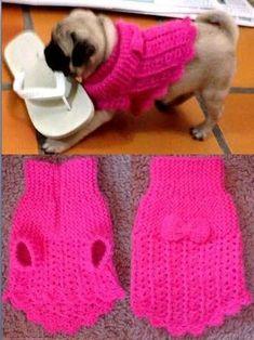 Resultado de imagem para receita de roupinha de cachorro em croche