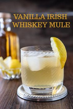 This Vanilla Irish Whiskey Mule cocktail recipe features the classic combination of Jameson and ginger ale. Lemon and vanilla round out the flavors and tame that whiskey burn About This Vanilla Irish Whiskey Mule Jameson Whiskey Drinks, Jameson Irish Whiskey, Whiskey Cocktails, Irish Cocktails, Bourbon Drinks, Scotch Whiskey, Jameson And Ginger, Whiskey And Ginger Ale, Cocktails With Ginger Ale