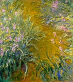 Path through the Irises 01 - Claude Monet 1914-1917