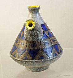 Pottery Pitcher Pot Vase  Upsala Ekeby Mid Century 1950's Hjördis Oldfors Sweden
