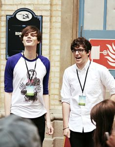 Chris Kendall and PJ Liguori. I like them both a lot. Also PJ is like over 6 feet tall so Chris must be like...way taller than that. Not complaining.