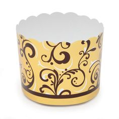 Welcome Home Brands-Refuned Baking Cups-Gold and Brown Vine
