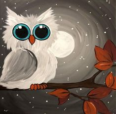 Avton DIY Adult Diamond Painting Kit Paint with Diamonds, Cute Owl Rhinestone Cross Stitch Kit Art Craft Canvas Wall Decor / Easy Canvas Painting, Diy Painting, Painting & Drawing, Beginner Painting, Owl Canvas Paintings, Bird Painting Acrylic, Painting Classes, Simple Acrylic Paintings, Halloween Painting