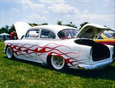 1954 chevy with seaweed flames frenched taillights, radirs and WWW