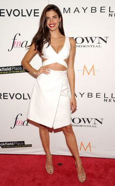Sara Sampaio from Stars at New York Fashion Week Spring 2016  Once again, the new Victoria's Secret Angel shows off her model chops in this crisp white dress.