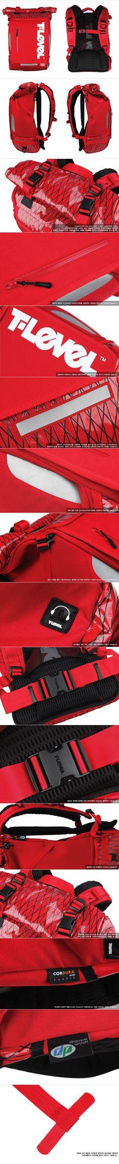 WHEREHOUSE [티레벨 - Infinity Rolltop Backpack X-Pac Red] Brand Information ::T-LEVEL (Technologic-Level)은 현대를 살아가는 도시인들의 라이프스타일을 베이스로 단순히 하나의 카테고리에 속하지않으며, 다방면의 모든 유저들을 위하여 설계된 어반 러기지 컬렉션 (Urban Luggage Collection)을 컨셉으로 프로듀싱된브랜드입니다. 픽시 기어 바이크, BMX 그리고 이지바이크등의 일상생활에서 가장 가까운 라이딩기어에 포커스를 맞춘 프로덕트를포함하며, 넓게는 나이와 성별, 직업이 다양한 모든 도시인들의 생활패턴에 맞춘 각종 Bag과 그에 따른 어플리케이션을 제공합니다.Product Information ::T-LEVEL X-PAC 시리즈 제품 중 하나로 Demension Polyant사에서 발주한 경량성과 내구성, 방수성을 자랑하는 X-Pac원단을 사용하여 제작된 Infinity…