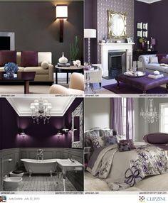 Colors Gray + Eggplant