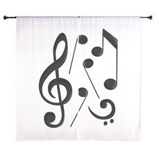 Music Notes Curtains