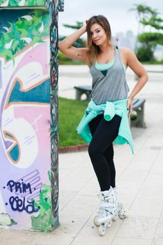 juliana goes | blog | look do dia | forever 21 | patins | patins inline| active forever 21 | roupa de academia | moda fitness | look de academia |