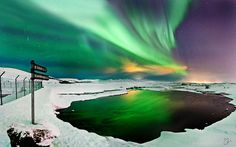 Where to go ? Go toward the light. by Olinn Thorisson, via Northern Lights Holidays, Out Of This World, Aurora Borealis, Where To Go, Iceland, Beautiful Places, Sky, Lighting, Amazing