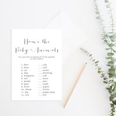 Printable Baby Shower Game Name the Baby by daintydarlingco
