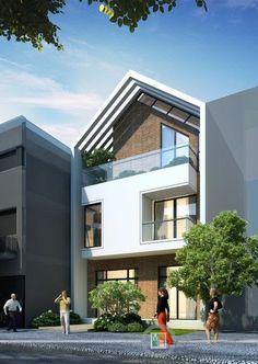 Townhouse Designs, Modern Townhouse, Facade Design, Exterior Design, Modern Properties, Street House, Facade Architecture, Modern House Plans, Modern Exterior