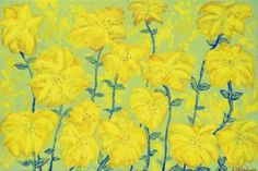 "Saatchi Art Artist suga lane; Painting, ""Floral Fireworks #Yellow Limited Edition Print"" #art #fineart #painting"
