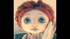 Puppet Tutorial, Doll Tutorial, Raggy Dolls, Hair Yarn, Clothespin Art, Doll Face Paint, Doll Videos, Fabric Toys, Doll Eyes