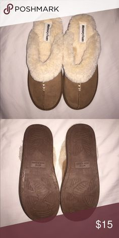 Slippers 💕 Memory foam brown slippers, never worn Shoes Slippers