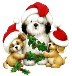 Animated Christmas Pictures with Music Christmas Puppy, Noel Christmas, Christmas Clipart, Christmas Animals, Vintage Christmas Cards, Christmas Cats, Christmas Printables, Christmas Ornaments, Animated Christmas Pictures