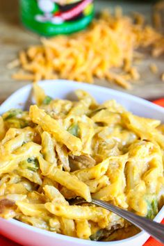 Simple family meal - great while traveling as long as you have a pot, burner, and a few things from the grocery store. Bring spices in a baggie from home! - Stove Top Cajun Chicken Mac-n-Cheese from Eat, Live, Run.