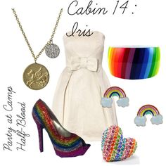 """""""Iris"""" by ellalea on Polyvore  i'm only posting this to keep the order going.  i really hate those shoes, earrings, and the ring."""