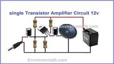 An audio amplifier is a device which multiply an applied input signal amplitude to a level that may be much higher than the input signal. The input is given in the form of an audio or a music. Hobby Electronics, Electronics Components, Electronics Gadgets, Electronics Projects, Electronic Circuit Projects, Electronic Engineering, Electrical Engineering, Diy Amplifier, Audiophile Speakers